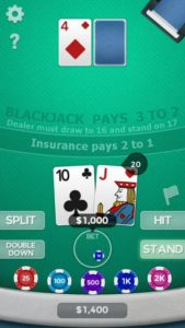 Android Marshmallow 6 Online Blackjack 21 by Banaca & Co